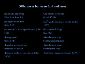 differences between god and jesus1